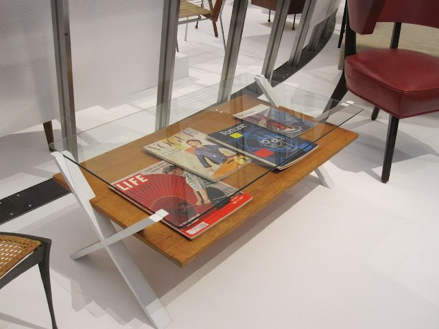 Mid Century Modern Coffee Table At Los Angeles County Museum Of Art Exhibit California
