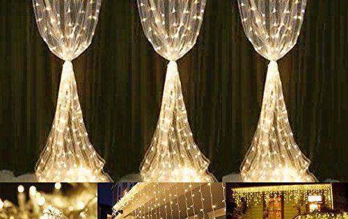 LE 3m 6m 594 LEDs Rideau lumineux 8 modes Guirlande lumineuse