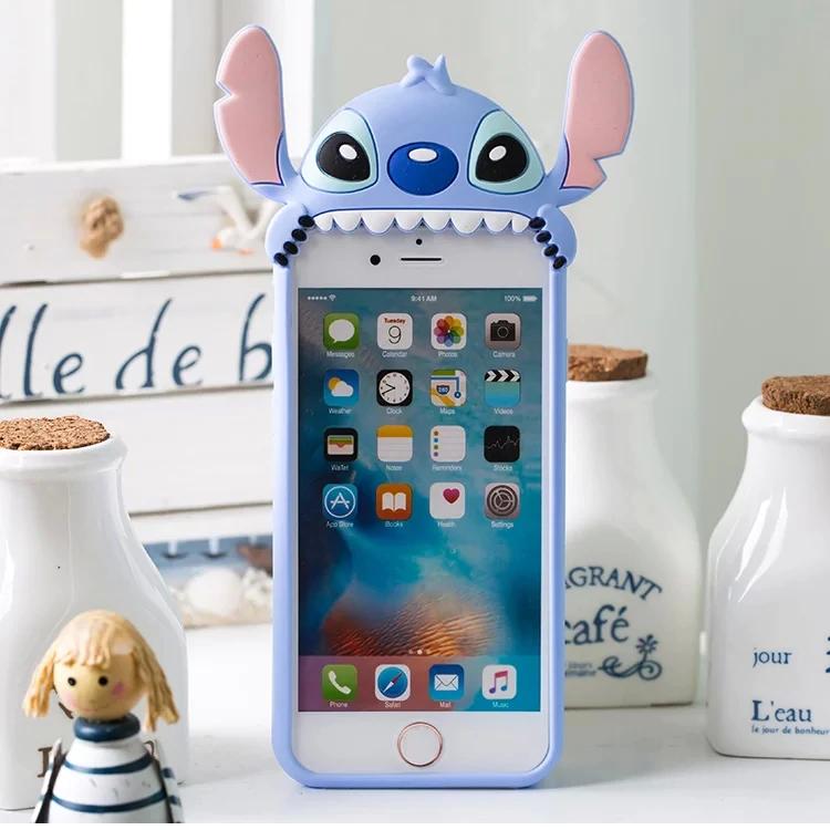 3D Cartoon Cute Stitch Soft Silicone Back Cover Skin For Iphone 6 ...