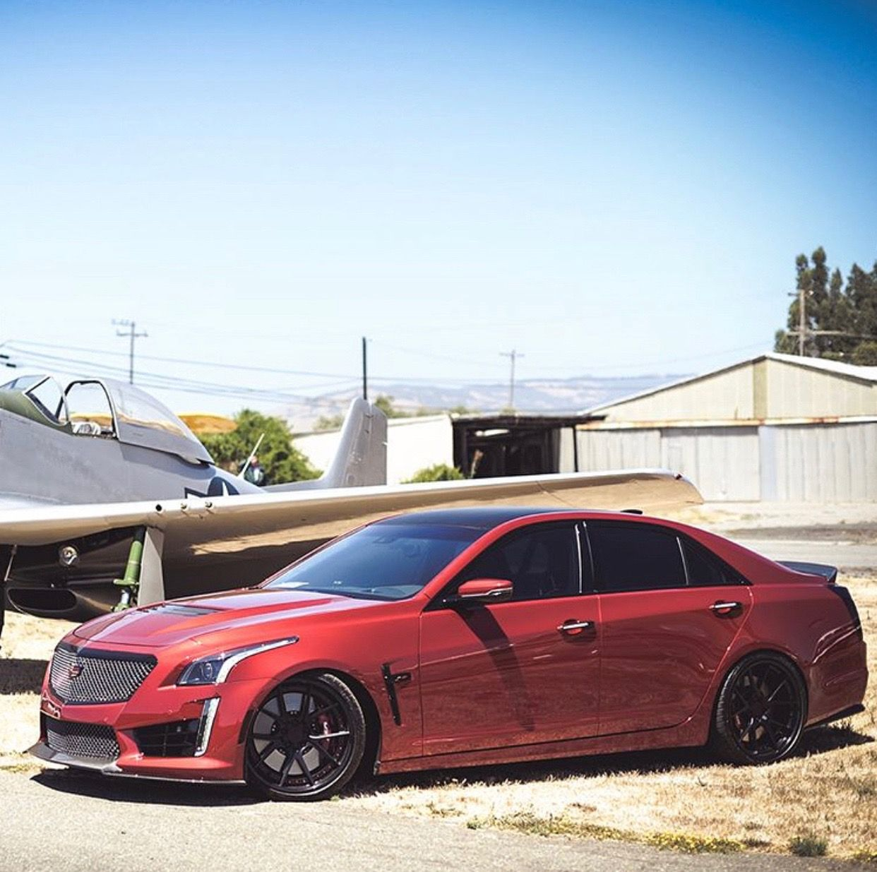 Cadillac CTS V Painted In Red Obsession Tintcoat Photo