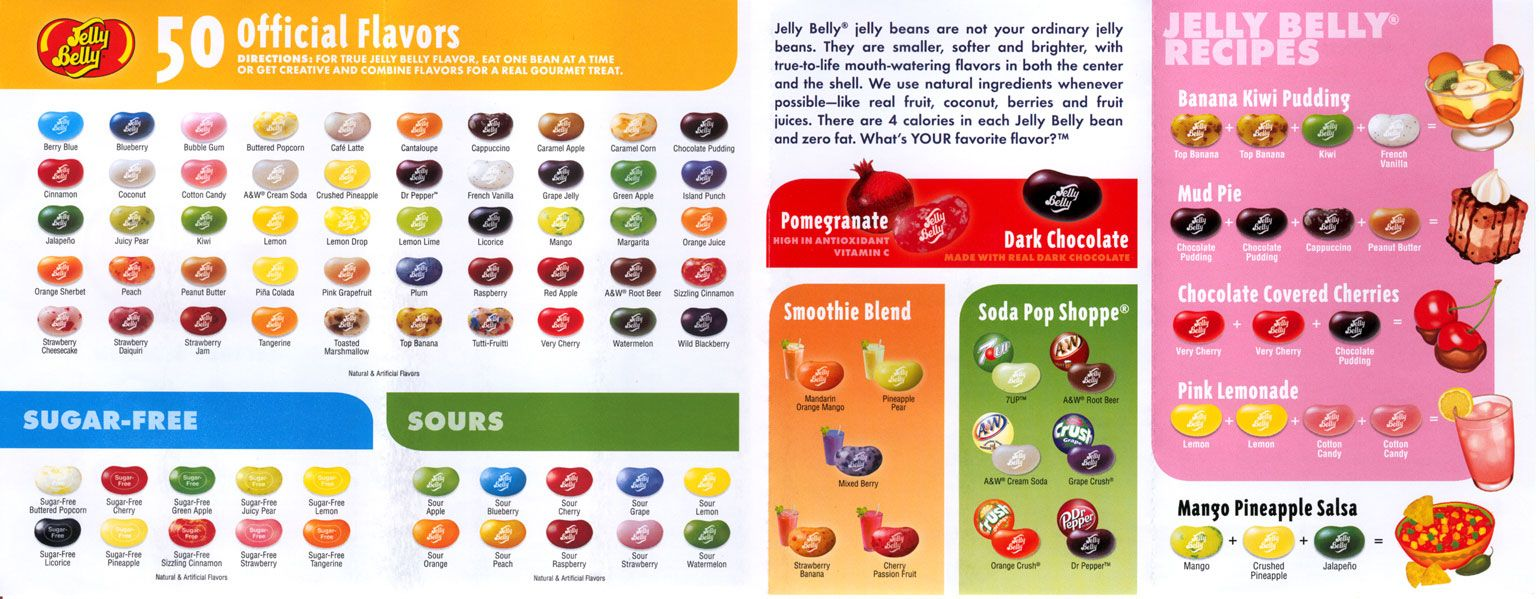 15e55e343 Image result for Jelly Belly Flavor Chart