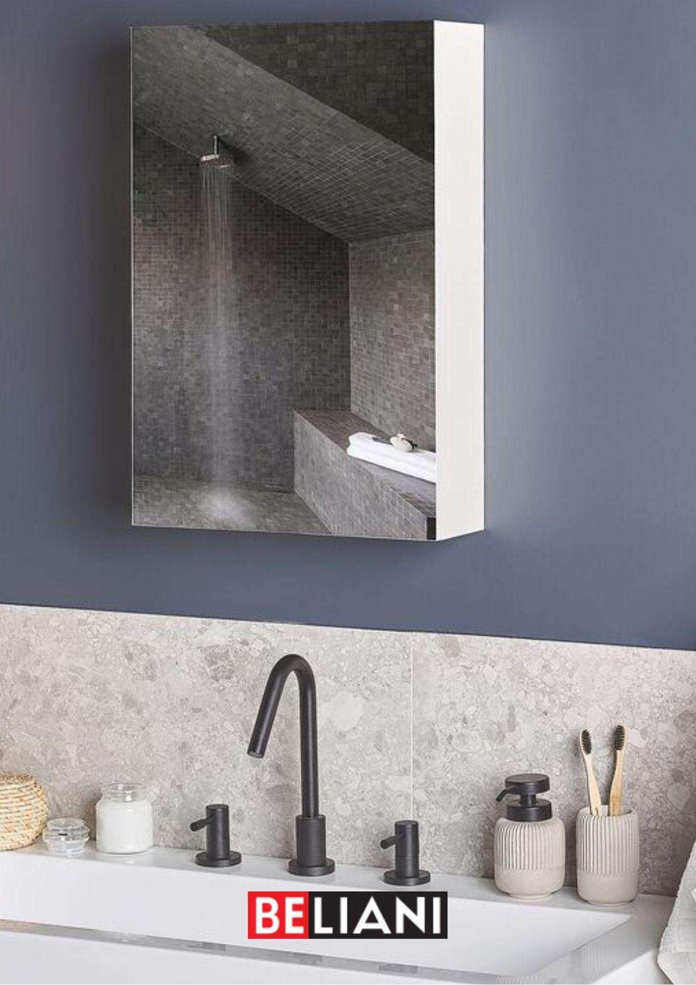 Bad Spiegelschrank Weiss Silber 40 X 60 Cm Spiegelschrank Schrank Spiegel