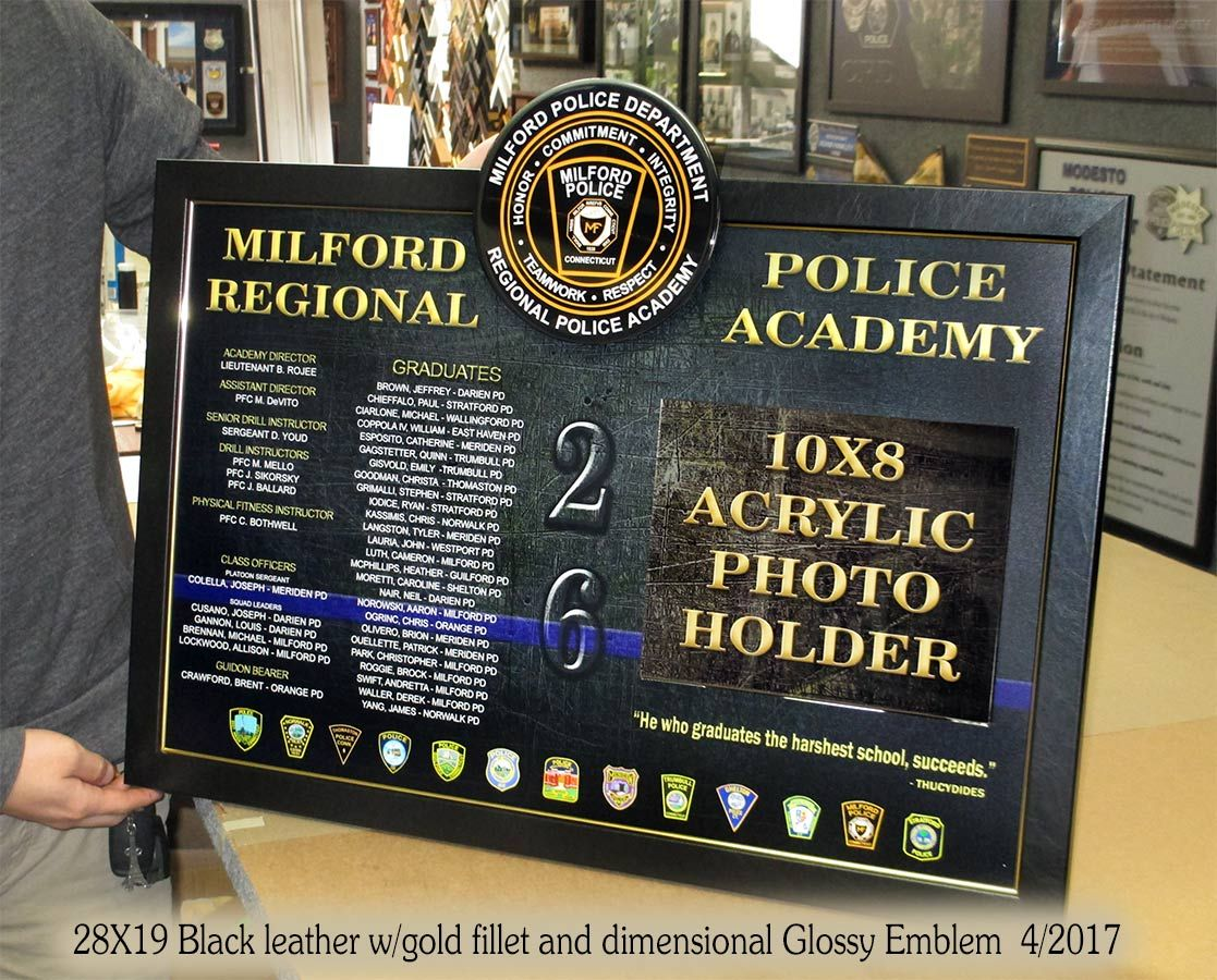 Police Academy Presentation For Milford Pd From Badge Frame Badge Police Academy Frame