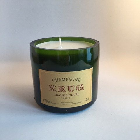 Krug Champagne Bottle Candle by IndustryCandles on Etsy
