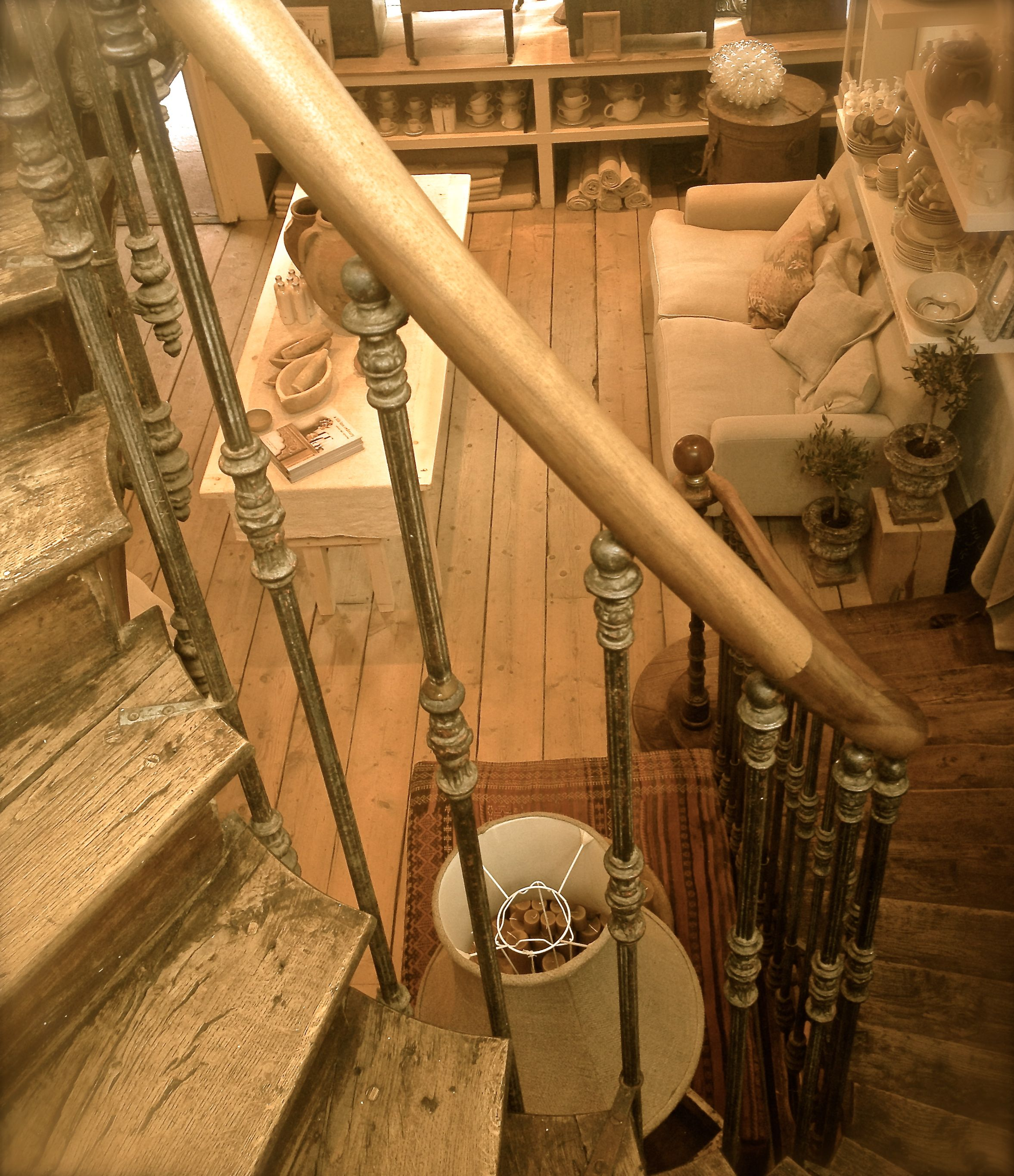 Custom Built Stair Using Antique Iron Spindles From France. Igigi General  Store, Brighton,