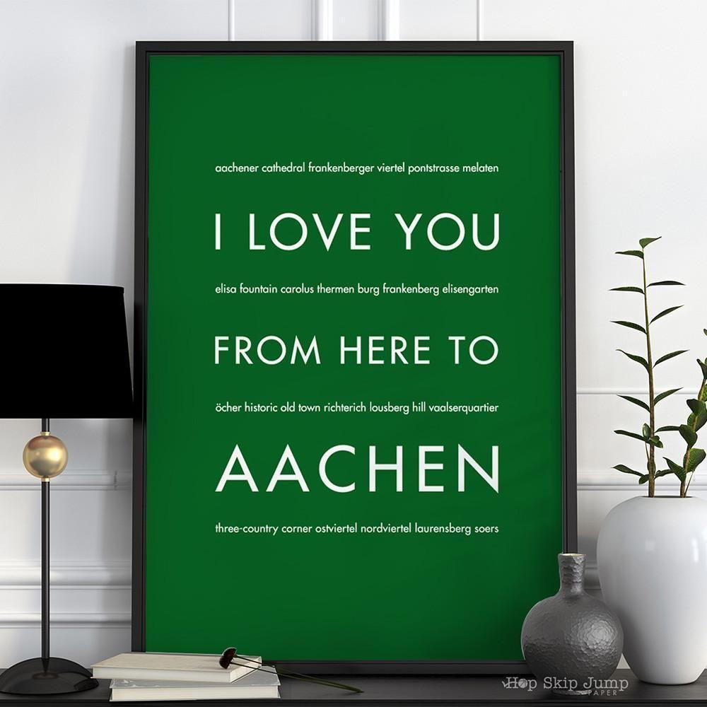 AACHEN Travel Poster | Gift Idea | HopSkipJumpPaper