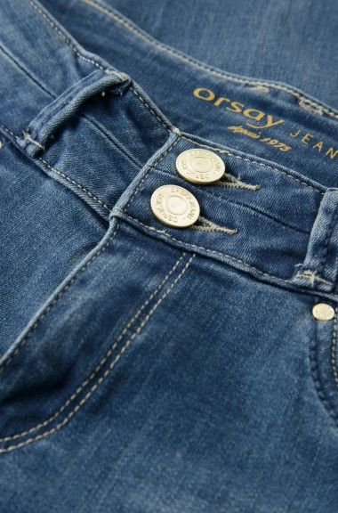 ORSAY JEANS | Straight jeans with button detail #mywork #fashiondesigner #details