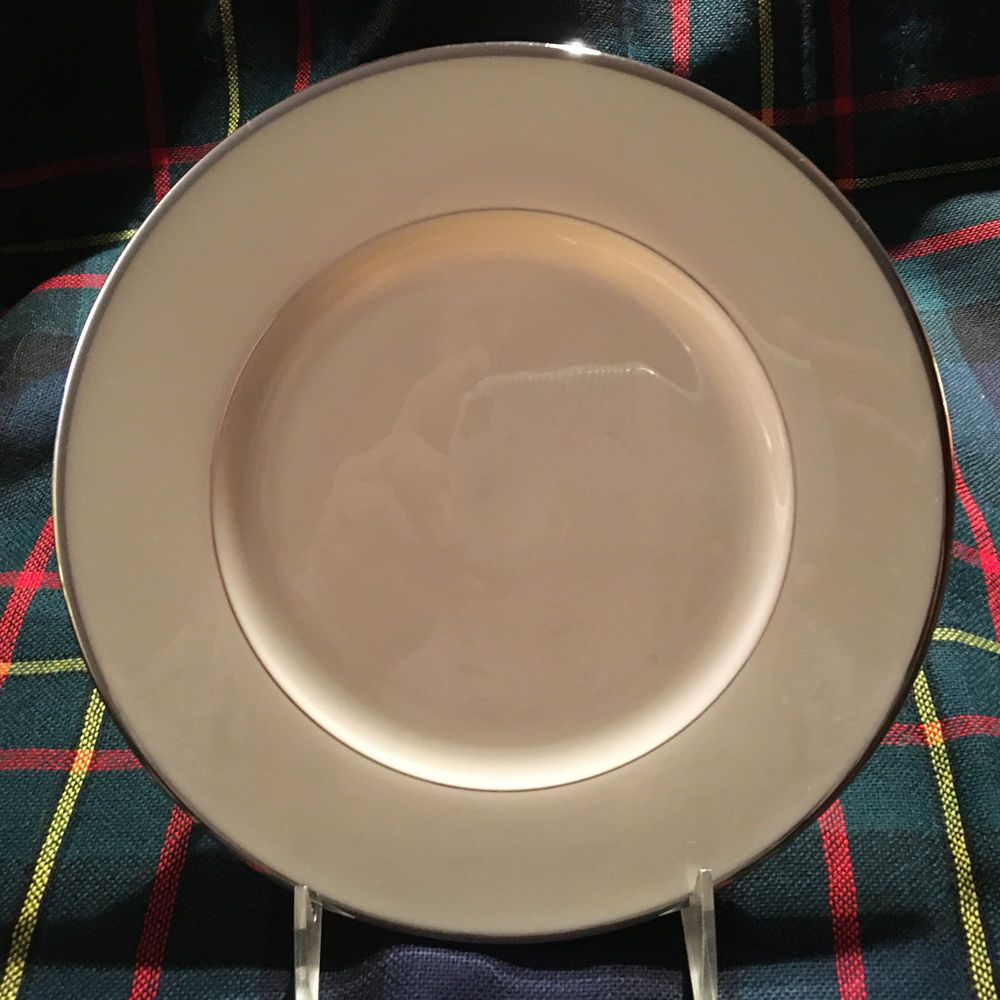 "Lenox Montclair B501 Presidential Salad Plate w/Platinum Trim 8 1/4"" #Lenox"