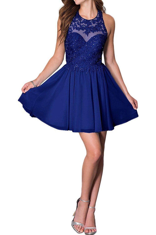 Promgirl House Damen Chic Hellblau Rosa Royalblau A-Linie ...