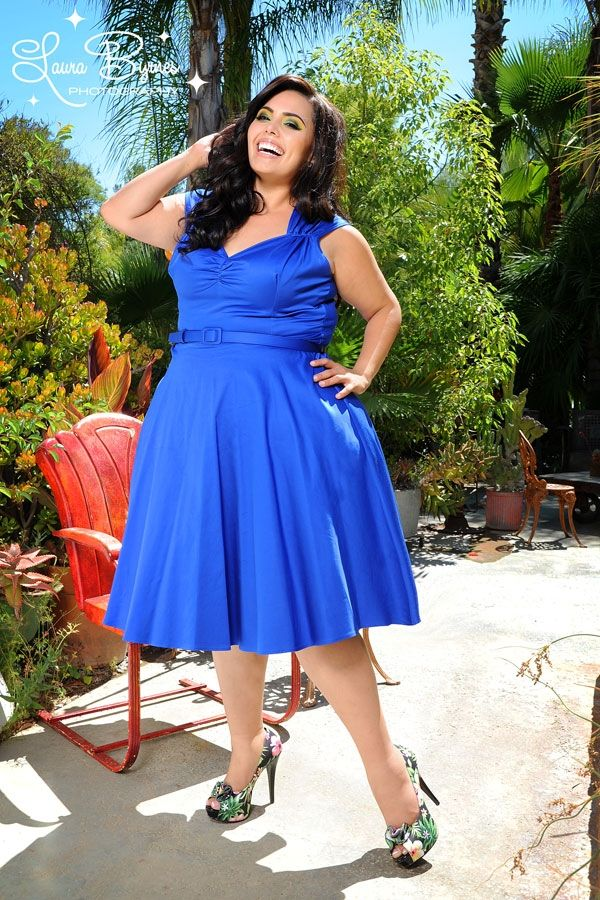 Heidi Dress in Royal Blue - Plus Size