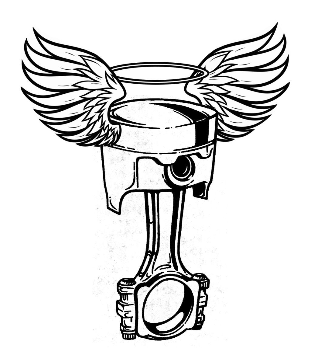 Crossed Wrench And Piston Tattoo