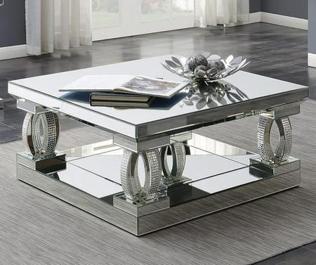 722518 40 Coffee Table With Tempered Glass Top Decorative Curved