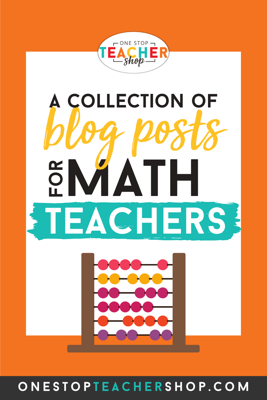 Teaching Math Ideas One Stop Teacher Shop in 2020