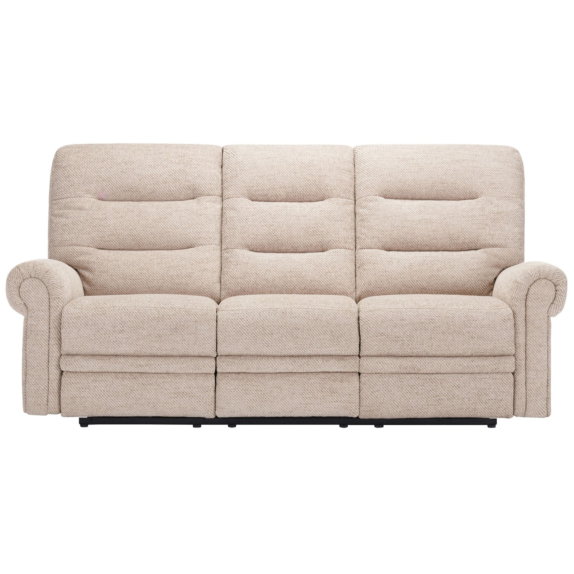 Sofa Bed Eastbourne Eastbourne Electric Reclining 3 Seater Sofa Oatmeal Fabric