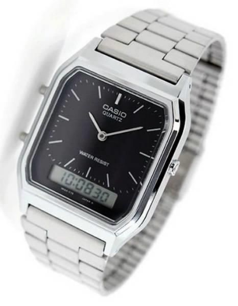 8c72d17dc18 Casio Vintage Retro Silver Digital Analog Mens Watch picture Relogio  Feminino Prata