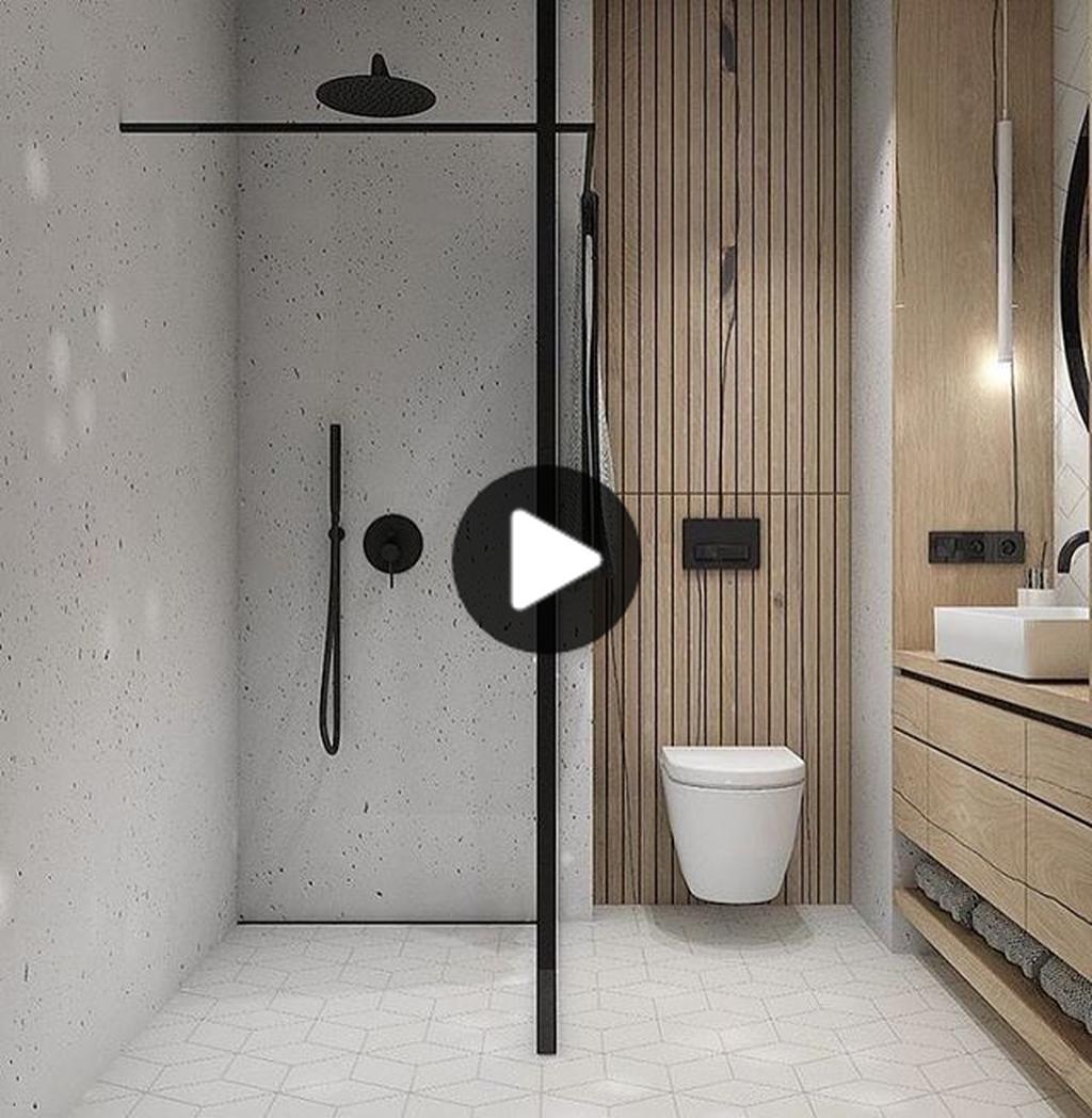 34ゴージャスなミニマル小浴室デザインと内装のアイデア バスルーム