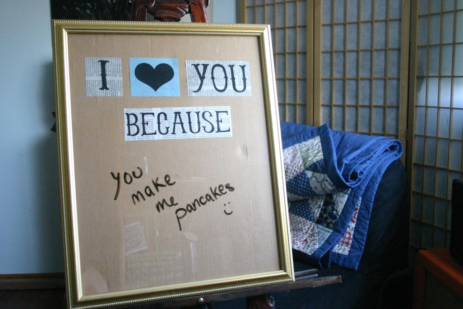 Anniversary Gifts, I Love You Because Dry Erase Message