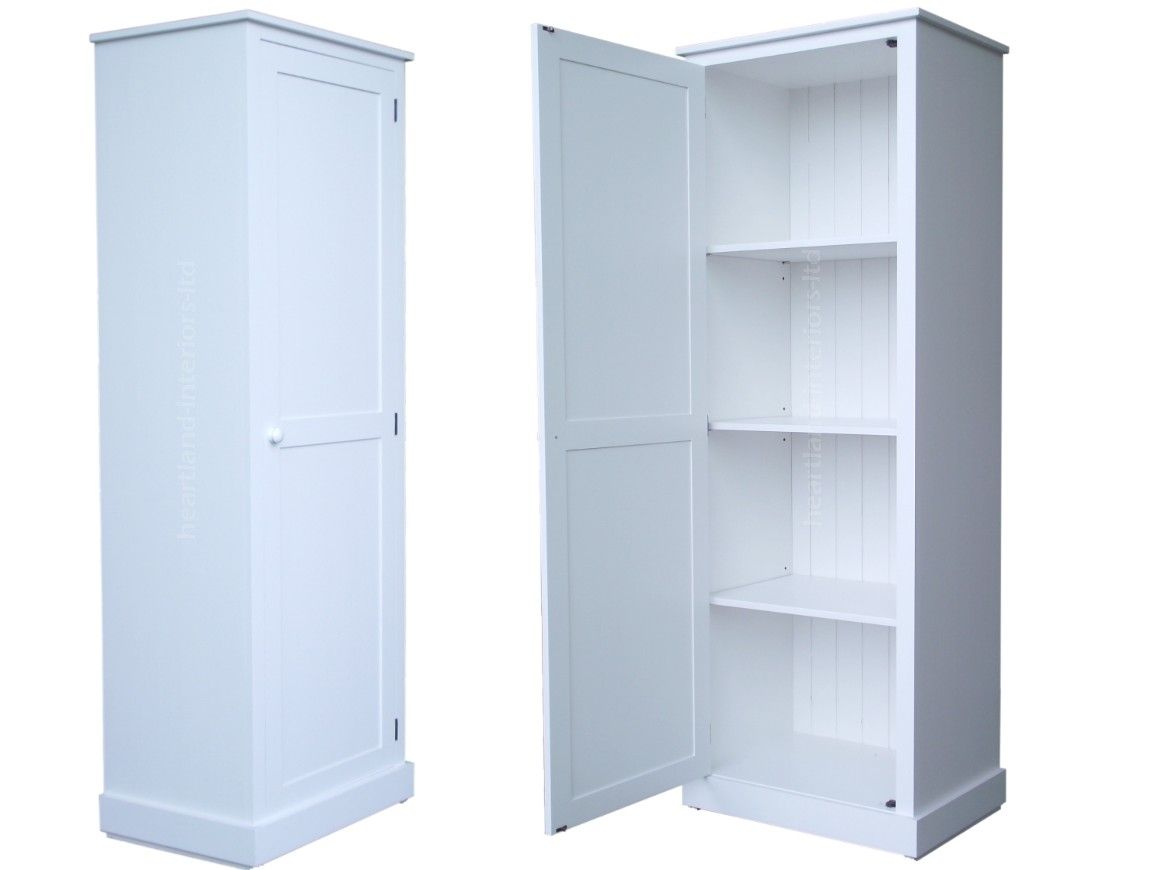 Tall Pantry Cabinet with % Solid Wood Cupboard,cm Tall White Painted ...