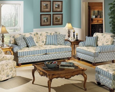 Elegant Country Cottage Style Living Rooms | Carolines Cottage Living Room | Colony  House Furniture