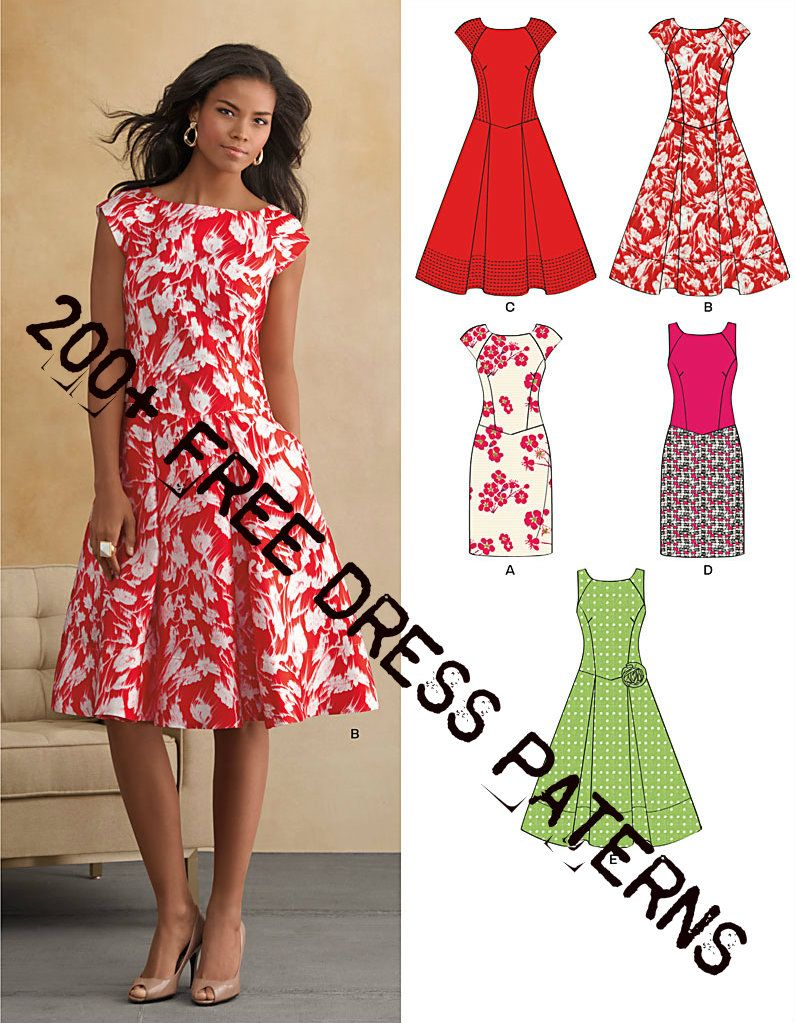 200+ Free Dress Patterns | We Know How To Do It | diy fashion ...