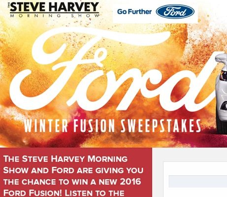 Steve Harvey Ford Winter Fusion Sweepstakes Sweeps Maniac Steve Harvey Sweepstakes Steve