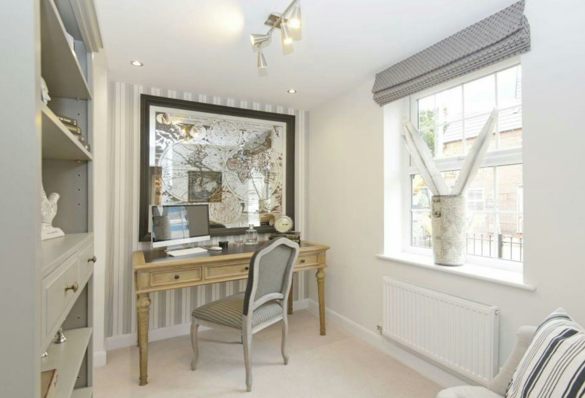 Interior Designed Study / Office using Elephants Breath, french desk ...