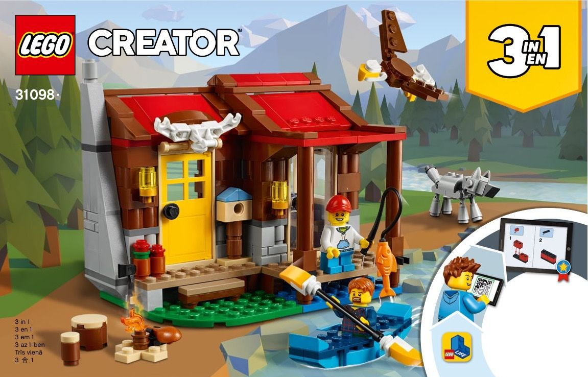Lego 31098 Outback Cabin Instructions Displayed Page By Page To Help You Build This Amazing Lego Creator Set Lego Lego Creator Sets Lego Creator