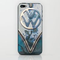 iPhone 5s & iPhone 5 Skins featuring Blue Rusty VW by KitKatDesigns