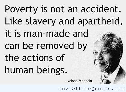 Slavery Quotes Nelson Mandela Quote On Povery And Slavery  Httpwww .