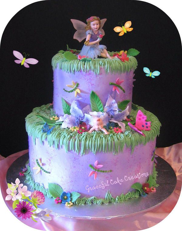 Cool Garden Fairie Baby Shower Cake Photos Download Free Photos With Funny Birthday Cards Online Elaedamsfinfo