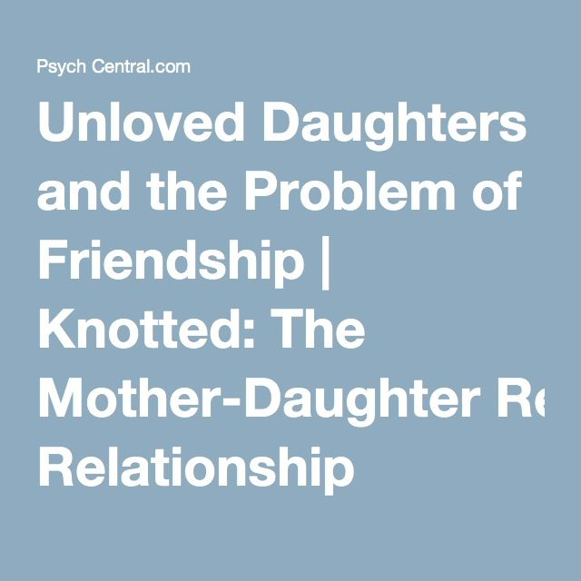 daughter mother relationship issues