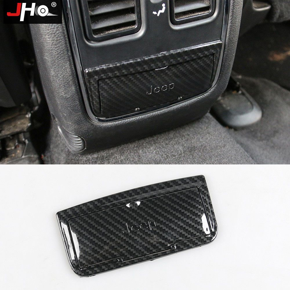 Carbon Fiber Rear Console Button Protect Cover Cap For Jeep Grand
