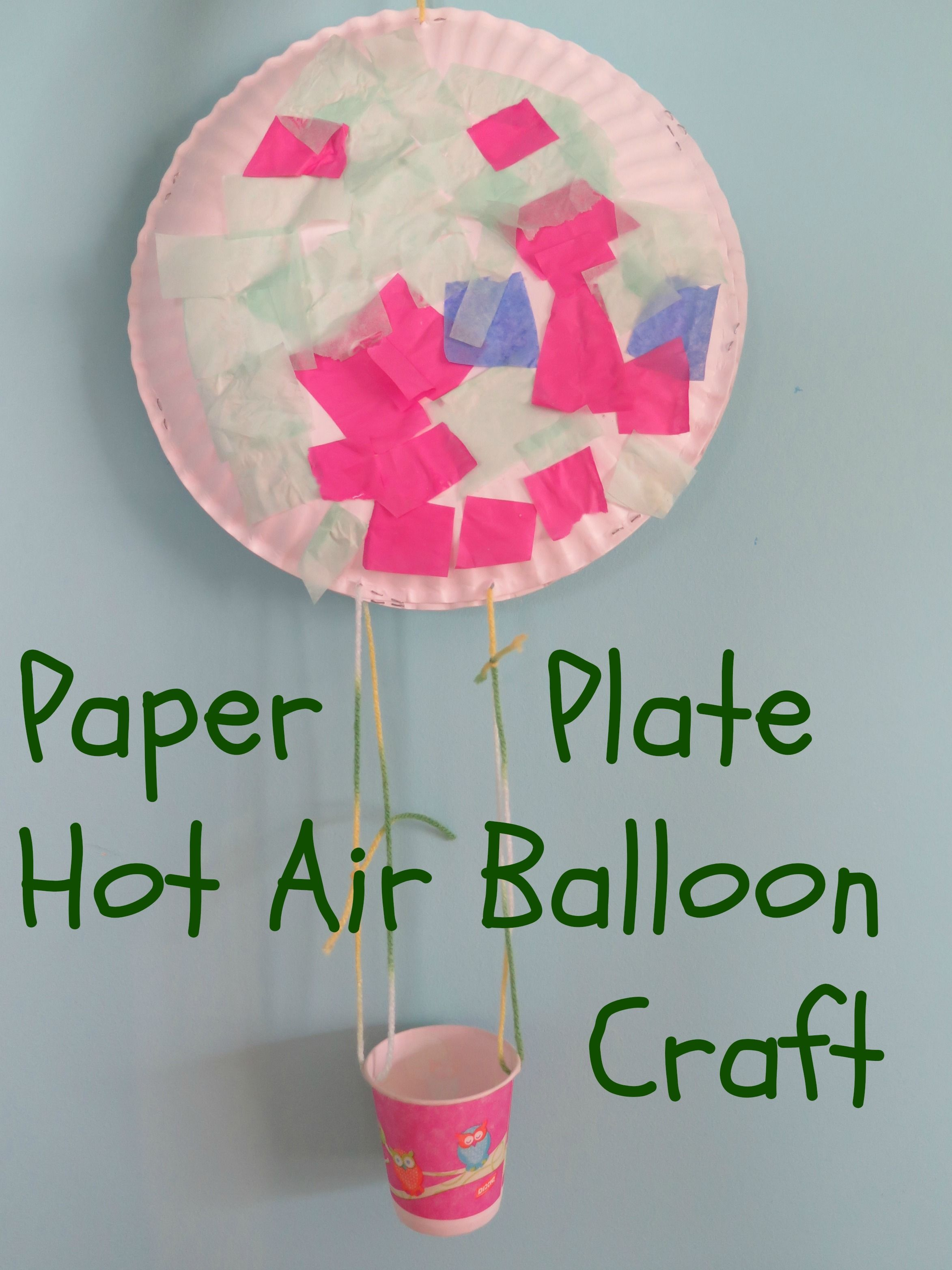 Paper Plate Hot Air Balloon Craft