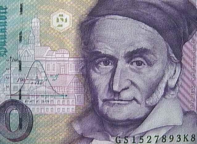 Deutschmark Gauss Die gute slte Deutsche Mark Math