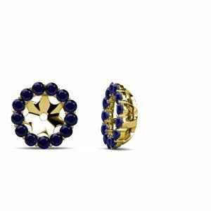 0.78cttw to 0.86cttw Halo Earrings Only Jackets in 18 types of Precious Natural stones to Choose from Set in 14K Yellow Gold.  http://electmejewellery.com/jewelry/earrings/earring-jackets/078cttw-to-086cttw-halo-earrings-only-jackets-in-18-types-of-precious-natural-stones-to-choose-from-set-in-14k-yellow-gold-com/