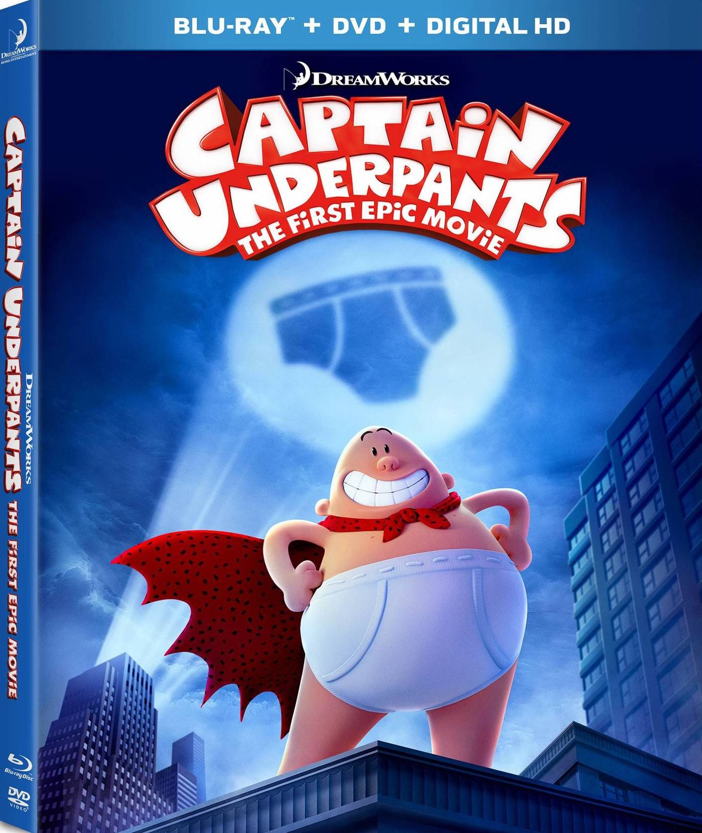 Captain underpants the first epic movie bluray