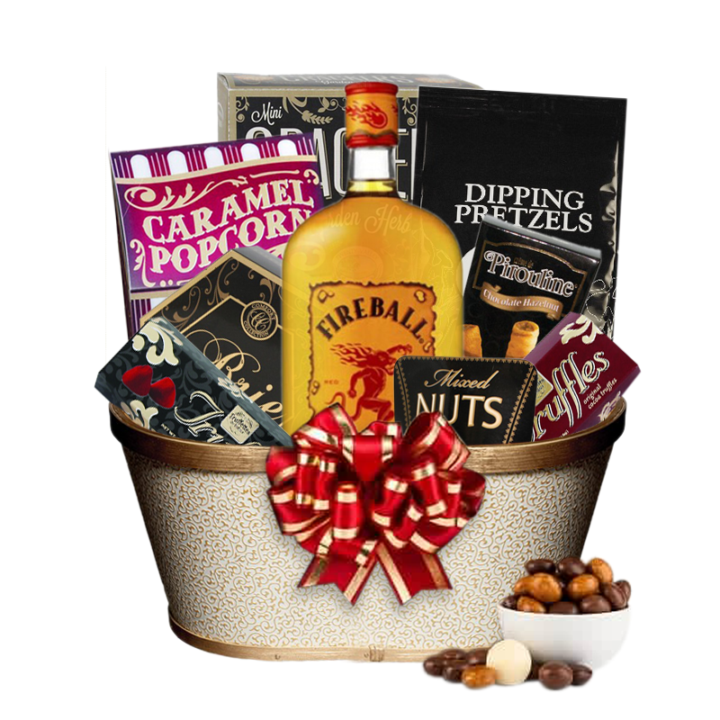 fireball liquor gift basket more