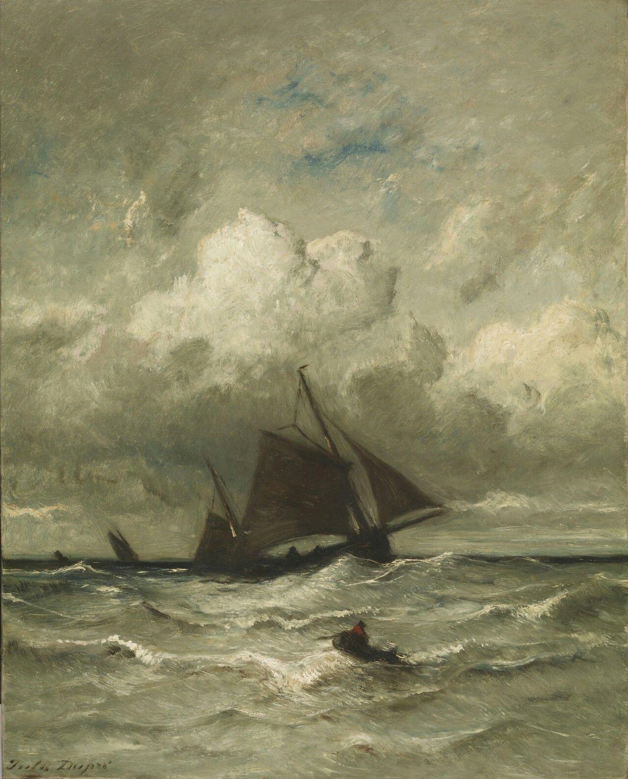 At Sea, 1870, Jules Dupré