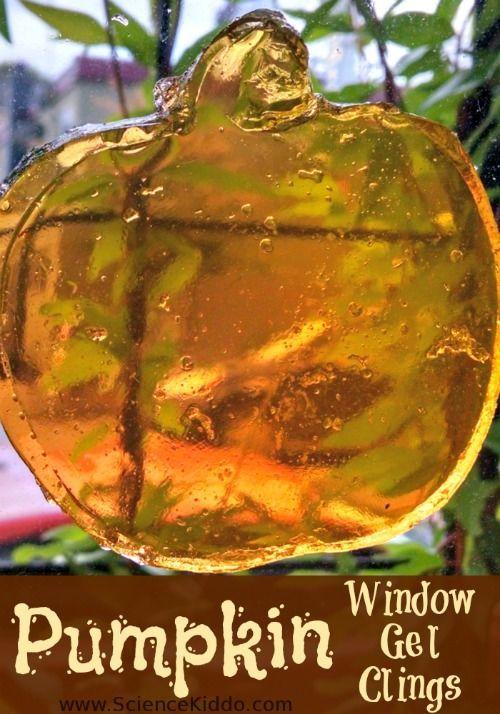 Halloween Window Gel Clings- Science Kiddo Window, Halloween - halloween window clings