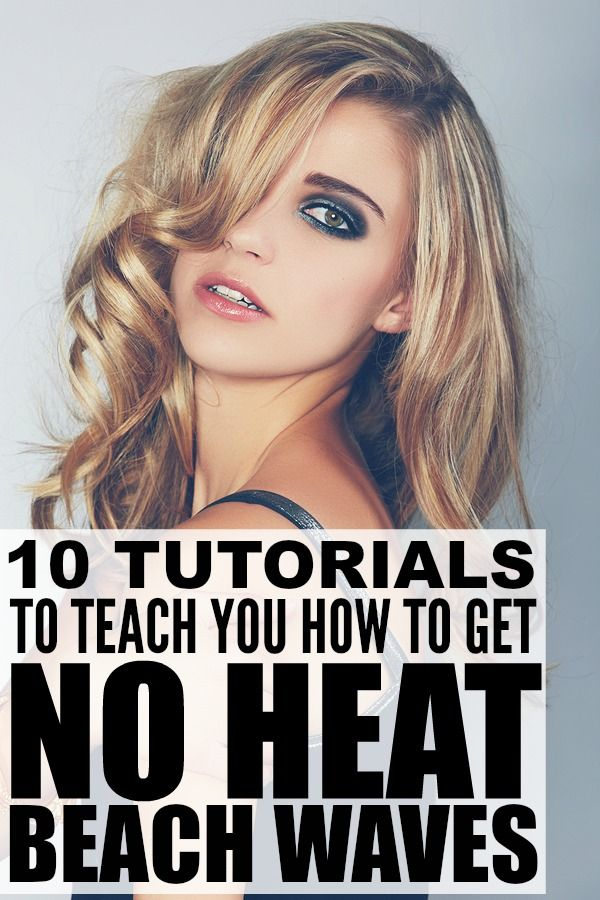 If you love to sport sexy beach waves, but aren't a fan of the damaging effects of curling wands and hair straighteners, check out this collection of tutorials to teach you how to get perfect beach waves WITHOUT heat. I've tried them all with a lot of luck, but I especially love the technique in the first tutorial as it takes minimal effort and always looks amazing. Good luck!