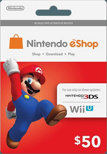 carte nintendo eshop gratuit $50 Nintendo eShop Prepaid Card | Carte cadeau, Nintendo, Carte
