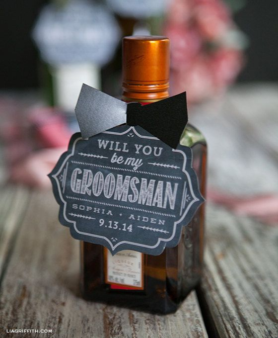 Will You Be My Groomsman Gift Tags Or Card By Liagriffith On Etsy
