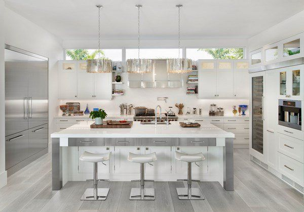 Grey And White Kitchen With Island unique grey hardwood floor ideas contemporary kitchen design white