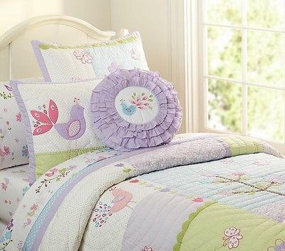 Pottery Barn Kids Pbk Lavender Brannan Peacock 6 Piece Quilt Twin Bedding Sheets Pottery Barn Bedding Pottery Barn Kids Quilt Bedding