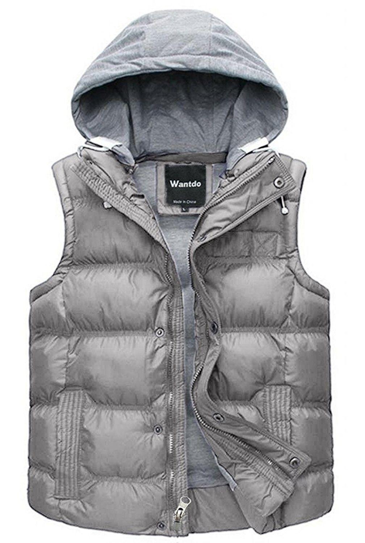 Wantdo Girls Hooded Puffer Vest Padded Sleeveless Jacket Gilet