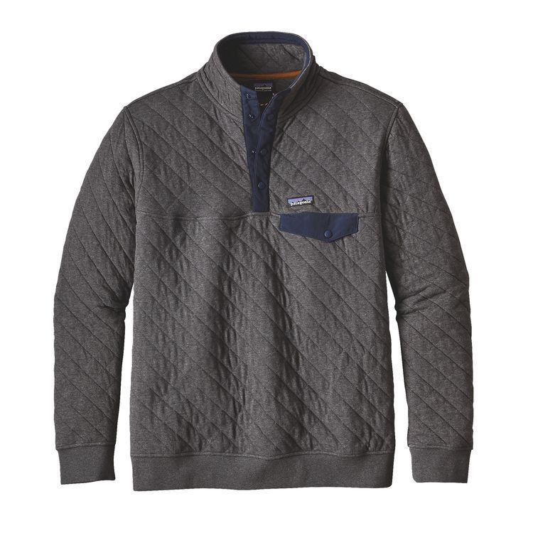 Men S Organic Cotton Quilt Snap T 174 Pullover Pullover