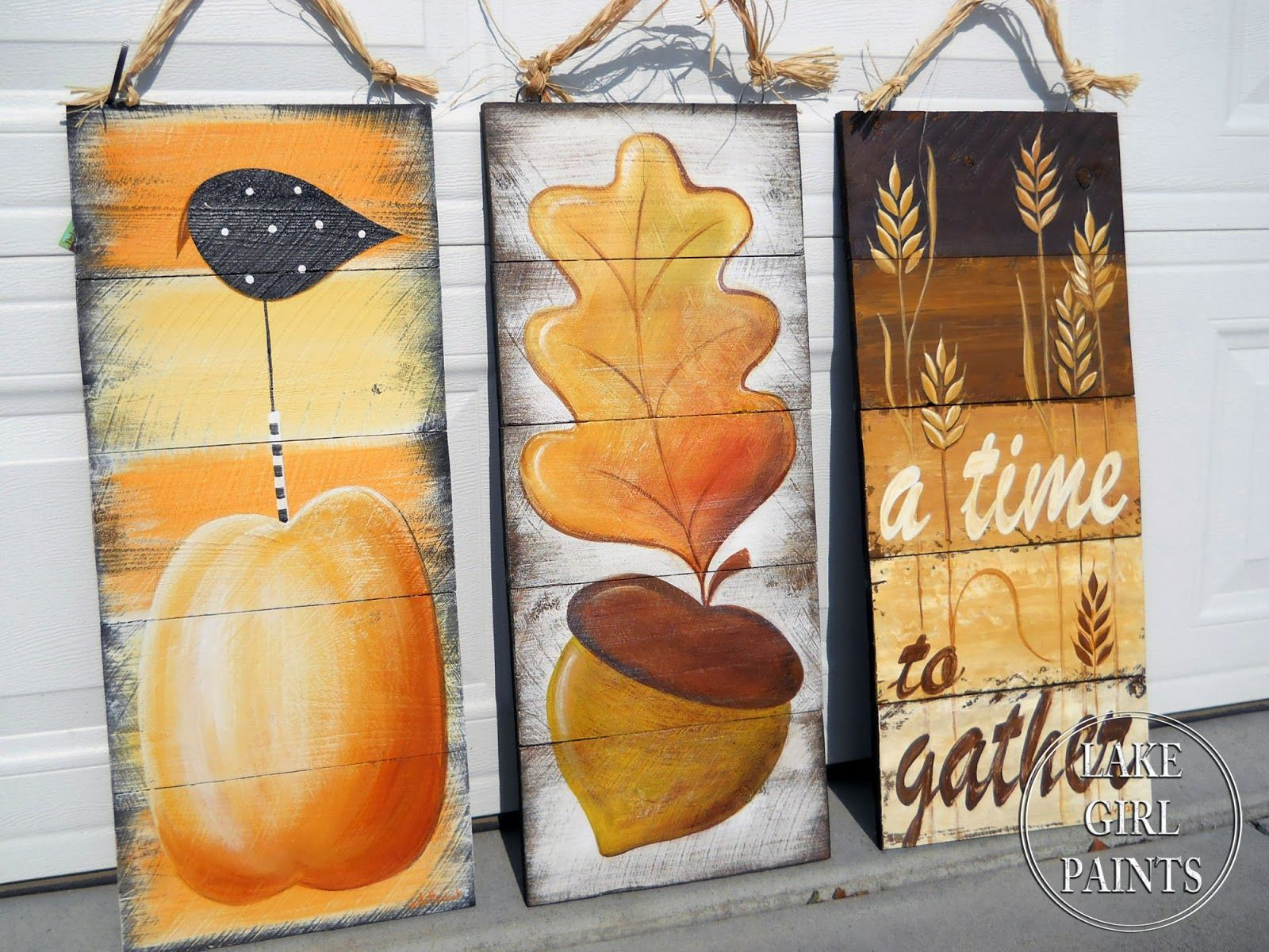 Lake Girl Paints: How to Paint Acorn and Autumn Leaf Art