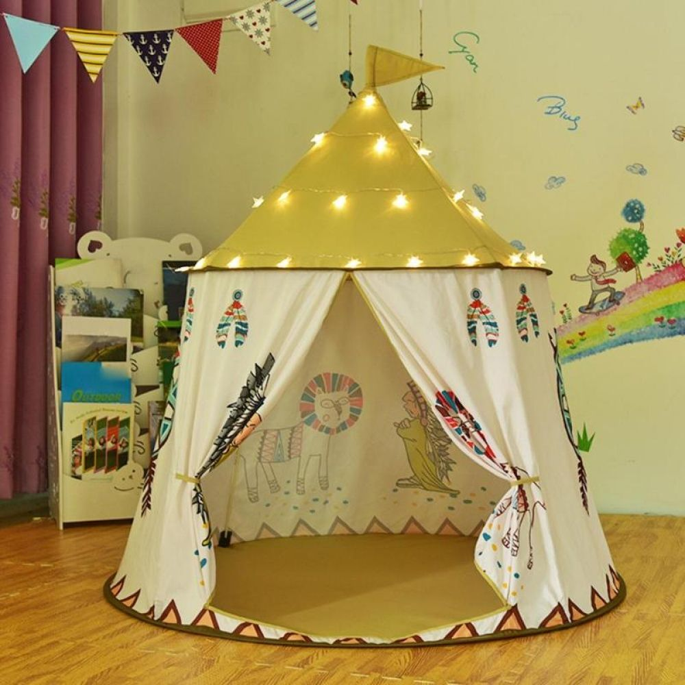 Kid Tent House Cartoon Chicken Kids Hang Flag Tent Baby Play House