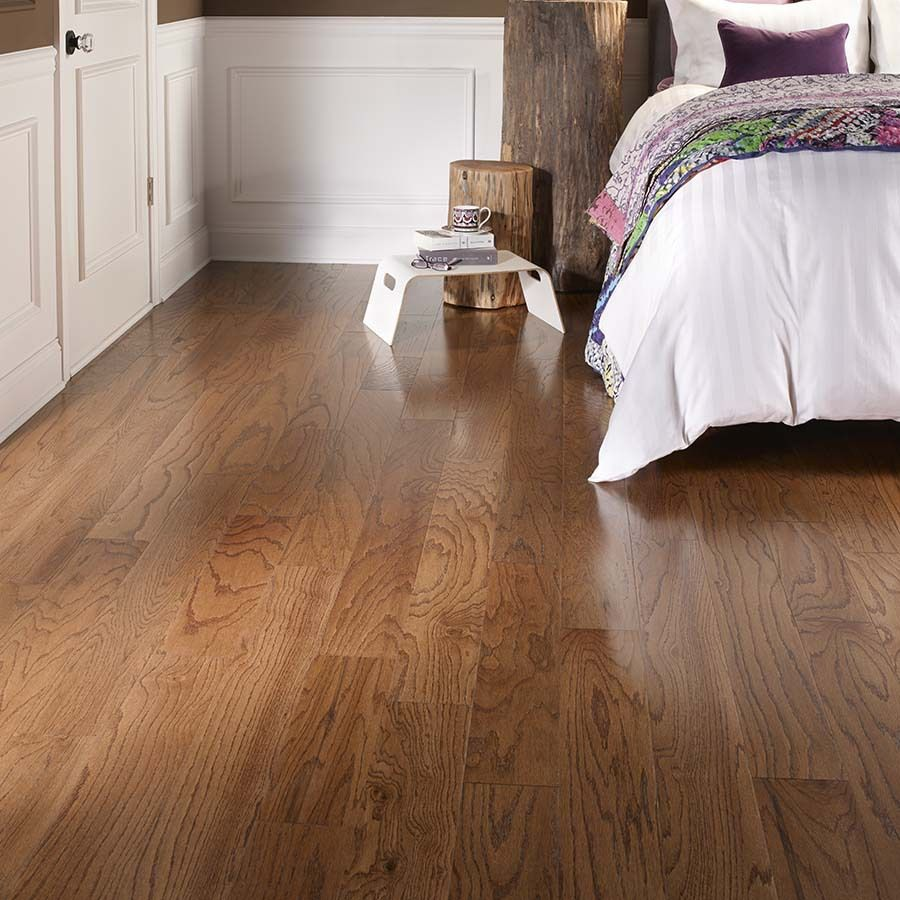 Shop Pergo MAX 5.36 In W Prefinished Oak Locking Hardwood Flooring  (Gunstock Oak)