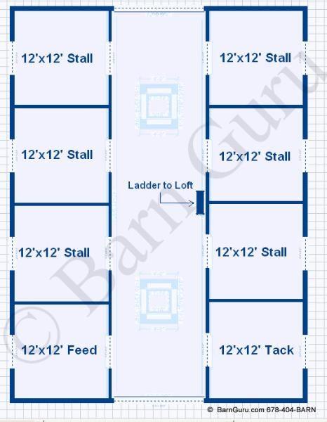 Barn Plans 6 Stall Horse Barn Design Floor Plan Horse Barn Designs Barn Plans Horse Barn